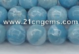 CLR604 15.5 inches 12mm round imitation larimar beads wholesale