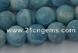 CLR613 15.5 inches 10mm round matte imitation larimar beads