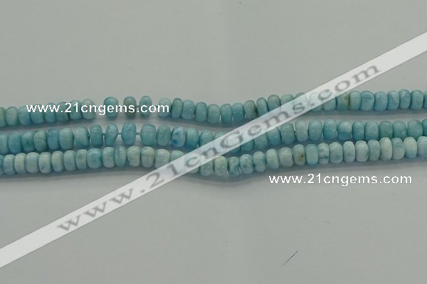 CLR78 15.5 inches 4*6mm rondelle natural larimar gemstone beads