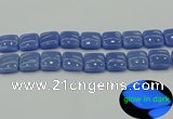 CLU195 15.5 inches 18*18mm square blue luminous stone beads