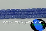 CLU202 15.5 inches 12*16mm rectangle blue luminous stone beads