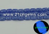CLU203 15.5 inches 13*18mm rectangle blue luminous stone beads