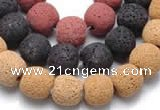 CLV07 14 inch 13mm ball shape natural lava loose beads wholesale