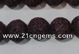 CLV479 15.5 inches 14mm round dyed purple lava beads wholesale