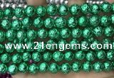 CLV547 15.5 inches 8mm round plated lava beads wholesale