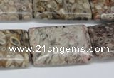 CMB28 15.5 inches 20*30mm rectangle natural medical stone beads