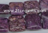 CMB39 15.5 inches 18*18mm square dyed natural medical stone beads
