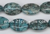 CMB49 15.5 inches 15*20mm oval dyed natural medical stone beads