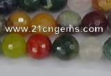 CME102 15.5 inches 8mm faceted round mixed gemstone beads