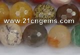 CME104 15.5 inches 12mm faceted round mixed gemstone beads