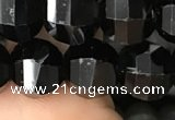 CME213 15.5 inches 7*9mm - 8*10mm pumpkin black quartz beads