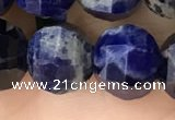 CME246 15.5 inches 10*11mm - 10*12mm pumpkin sodalite beads