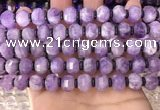 CME301 15.5 inches 8*11mm - 9*12mm pumpkin lavender amethyst beads