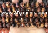 CME306 15.5 inches 8*11mm - 9*12mm pumpkin tiger eye beads