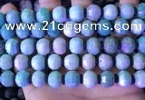 CME316 15.5 inches 8*10mm pumpkin amazonite gemstone beads