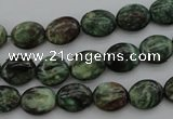CME35 15.5 inches 8*10mm oval emerald gemstone beads