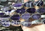CME507 12 inches 18*28mm - 20*30mm flat teardrop amethyst beads