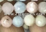 CMG322 15.5 inches 8mm faceted round morganite gemstone beads