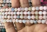 CMG330 15.5 inches 6mm round morganite beads wholesale
