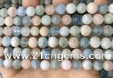 CMG421 15.5 inches 8mm round natural morganite gemstone beads