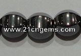 CMH130 15.5 inches 10*10mm pumpkin magnetic hematite beads