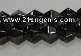 CMH135 15.5 inches 6*6mm faceted bicone magnetic hematite beads