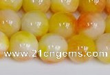 CMJ1051 15.5 inches 8mm round jade beads wholesale