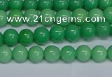 CMJ128 15.5 inches 6mm round Mashan jade beads wholesale