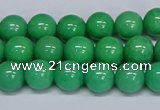 CMJ129 15.5 inches 8mm round Mashan jade beads wholesale