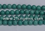 CMJ288 15.5 inches 4mm round Mashan jade beads wholesale