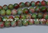 CMJ421 15.5 inches 4mm round rainbow jade beads wholesale