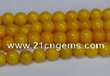 CMJ43 15.5 inches 4mm round Mashan jade beads wholesale