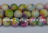 CMJ437 15.5 inches 8mm round rainbow jade beads wholesale