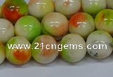 CMJ453 15.5 inches 12mm round rainbow jade beads wholesale