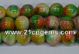 CMJ458 15.5 inches 8mm round rainbow jade beads wholesale