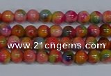 CMJ470 15.5 inches 4mm round rainbow jade beads wholesale