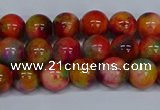 CMJ472 15.5 inches 8mm round rainbow jade beads wholesale