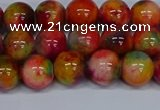 CMJ473 15.5 inches 10mm round rainbow jade beads wholesale