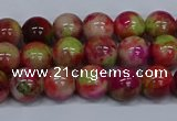 CMJ479 15.5 inches 8mm round rainbow jade beads wholesale