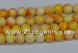 CMJ505 15.5 inches 4mm round rainbow jade beads wholesale