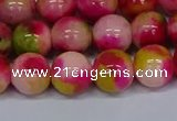 CMJ516 15.5 inches 12mm round rainbow jade beads wholesale