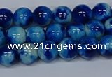 CMJ542 15.5 inches 8mm round rainbow jade beads wholesale