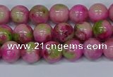 CMJ549 15.5 inches 8mm round rainbow jade beads wholesale