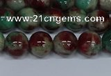 CMJ571 15.5 inches 10mm round rainbow jade beads wholesale