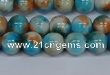 CMJ577 15.5 inches 8mm round rainbow jade beads wholesale
