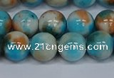 CMJ579 15.5 inches 12mm round rainbow jade beads wholesale