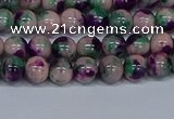 CMJ597 15.5 inches 6mm round rainbow jade beads wholesale