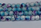 CMJ610 15.5 inches 4mm round rainbow jade beads wholesale