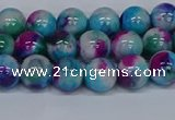 CMJ612 15.5 inches 8mm round rainbow jade beads wholesale