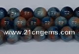 CMJ633 15.5 inches 8mm round rainbow jade beads wholesale